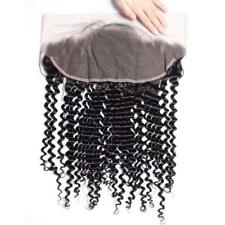 10A Brazilian Deep Wave Frontal Closure 13x4 Ear To Ear Lace Frontal Closure