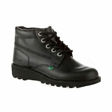 RRP £89 WOMENS KICKERS KICK HI CORE BLACK LEATHER BOOTS SZ 6.5 UK 40 EU NEW