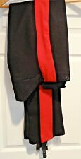 """BLUES & ROYALS HOUSEHOLD CAVALRY FISHTAIL WOOL BREECHES, 2.75"""" RED STRIPE, 31/33"""