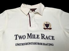 (L) Brooks Brothers Two Mile Race United Huntshorse Racing White Polo Shirt