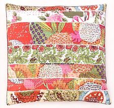 Kantha Patchwork 16'' Cushion Cover Sofa Pillow Indian Decor Throw Stylish Case