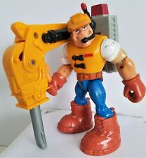 Fisher-Price Mattel Rescue Heros 1997 Construction Expert with Jack Hammer