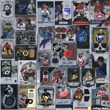 NHL 10 CARDS LOTS Pick your team: patch autograph jersey rookie legend stars SP