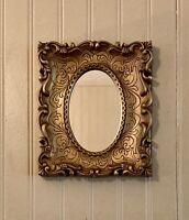 Vintage Gold Framed Accent Mirror Homco