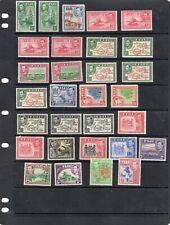 FIJI 1938-55 King George VI Pictorial Set MOST VARIEITIES SG; 249 to SG 266b MM