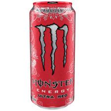 Monster Energy ULTRA Red 24x 500ml (12000ml) - Energie Drink, 0 Zucker, 0 Kalori