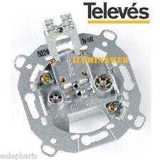 Toma Final TELEVES 5226, TV-FM/SAT 0,6-1,5dB Baja atenuacion, Universal de pared