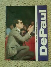 DePaul Blue Demons 1987 NCAA Tournament Guide - slightly rippled