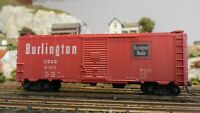 Accurail HO Burlington 40' Boxcar. Upgraded, Exc.