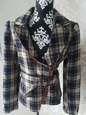 Damen Jacke Gestuz Gr. 40 L Karo Bikerjacke Designer Blazer Jacket Kariert Neu