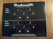 Rocksmith Guitar Fret Number Stickers -Two Sets Per Sheet NEW Works on 2014 too