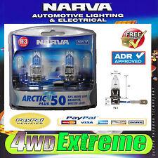 NARVA H3 GLOBES ARCTIC PLUS 50 ADR APPOROVED HEADLIGHT WHITE LIGHT 48633BL2 H3