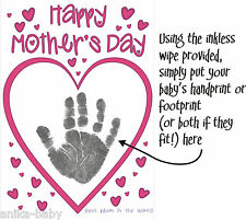 New Make your own Mothers Day Card YOUR Baby Son Daughter Hand prints Footprints