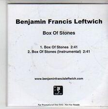 (CG498) Benjamin Francis Leftwich, Box of Stones - 2011 DJ CD