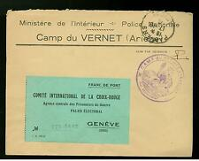 1941 France Internment Concentration Camp Vernet Ariege Cover Commandant Red Cro