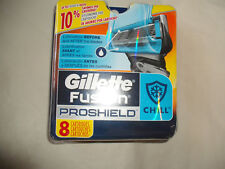 Gillette Fusion Proshield Chill 8 Refill Cartridges. Made in Germany.