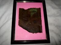 Rare Rusty Remnant Framed Early Impressed Script & Logo B.I.O. Shell Drum Side