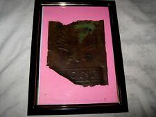 Rare Rusty Remnant Framed Early Impressed Script & Logo B.I.O. Shell Drum Side