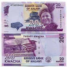 Malawi 20 Kwacha Banknote 2015 Uncirculated P63b  X 10 Consecutive Notes