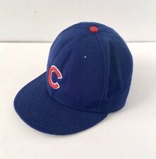 New Era Chicago Cubs Baseball MLB 59Fifty Fitted Blue Logo Hat Cap 7 1/2 or 7.5
