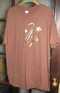 *Gildan* brown tee-shirt with motif Size L