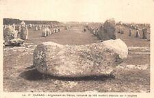 CARNAC - Alignement du Ménec, composé de 1169 menhirs debout sur 11 rangées