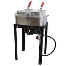 Chard 18 Quart Dual Basket Deep Fryer Propane Gas Cooker Commercial Grade Outd