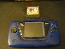 Sega Game Gear 2110 Blue Portable Game System & Sonic the Hedgehog Game