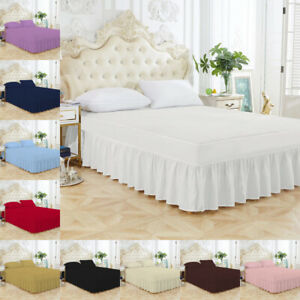 Extra Deep Fitted Valance Sheet Bed Sheets Single Double King Size Poly Cotton
