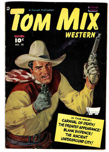 TOM MIX WESTERN #20 in FN/VF- condition a 1949 FAWCETT Golden Age Comic