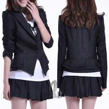 AU SELLER Celeb Style Black Slim Tunic Tuxedo Blazer Jacket Coat T043