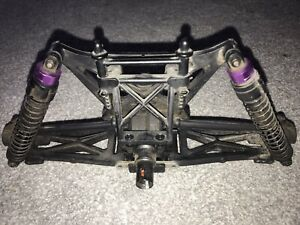 HPI MT2 Rear Arm Plate & Pin Set and Shocks - as pics - good condition