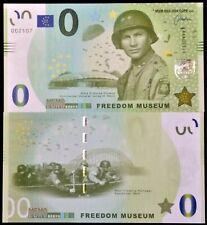 Freedom museum 82nd Airborne Div CG James M Gavin Market Garden Nijmegen €0 note