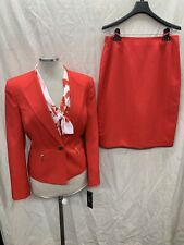 "LESUIT SKIRT SUIT/RED/LINED/SKIRT LENGTH 24""/RETAIL 18/NEW WITH TAG"