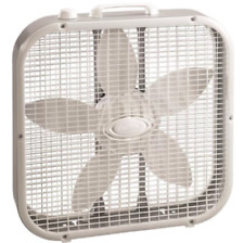 New 20 Inch Box Fan 3 Speed Portable Cooling Air Circulation Breeze Airflow Gray
