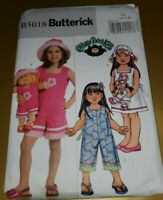 Butterick 5018_Girl's Pattern + CABBAGE PATCH Doll Outfit Sz 6 7 8 _OOP_UNCUT