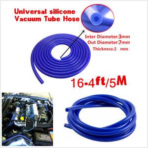 Auto Car Universal Blue 3mm Silicone Vacuum Tube Hose Silicon Tubing 16.4ft 5M