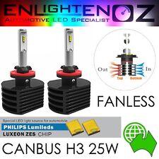 PAIR H3 CANBUS 25W PHILIPS LED Headlight Kit - 6000K - 3500LM each - FOG LIGHT
