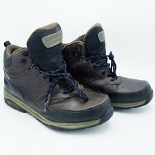 New Balance Mens Size 13 Boots MW1400DB Brown Leather Waterproof Trail Hiking