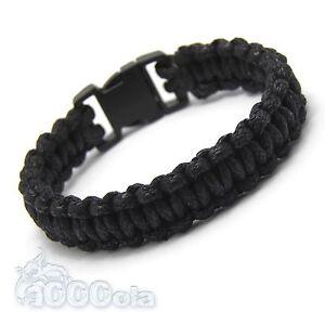 Bracelet Homme/Men's style bracelet de survie - PARACORDE fil tressé ciré coton