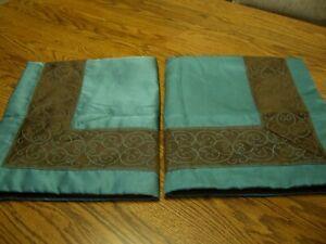 "Pair JCP Home Green & Brown Polyester Standard Pillow Shams/31"" x 25"""