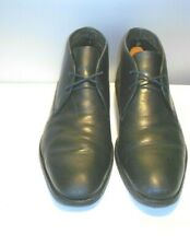 Men's Hugo Boss Black Leather Fashion Fall Ankle Chukka Boots Size 10 D
