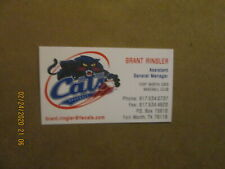AAA Fort Worth Cats Vintage Defunct Brant Ringler Team Baseball Business Card