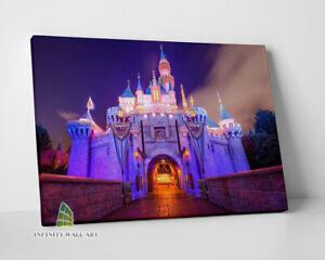 DISNEY Castle Fairytale Canvas Art Wall Art Print Children Kids Picture -C757