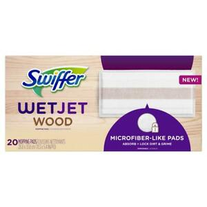 Swiffer WetJet Mop Refill Pad Wood Mopping Soft Microfiber Like Pads 20 Count