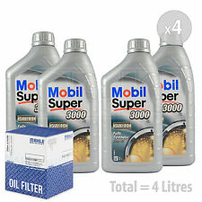 Engine Oil and Filter Service Kit 4 LITRES Mobil Super 3000 X1 5W-40 4L