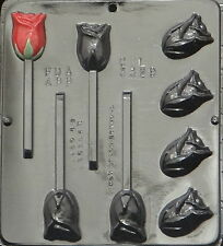 Rose Assembly Lollipop Chocolate Candy Mold  3329 NEW