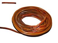 0,25 mm² - Servokabel, Servolitze, braun, rot, orange,Graupner Farbe, flach, 10m