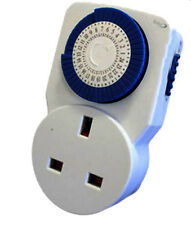 24 hour mains plug in timer switch time clock uk 3 pin free P&P