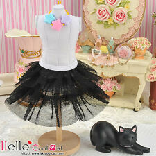 ☆╮Cool Cat╭☆179.【PD-10】Blythe Pullip Tulle Cake Mini Skirt # Black